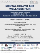 April 26th, Mental Health & Wellness Fair - CBN/RI Senior Center